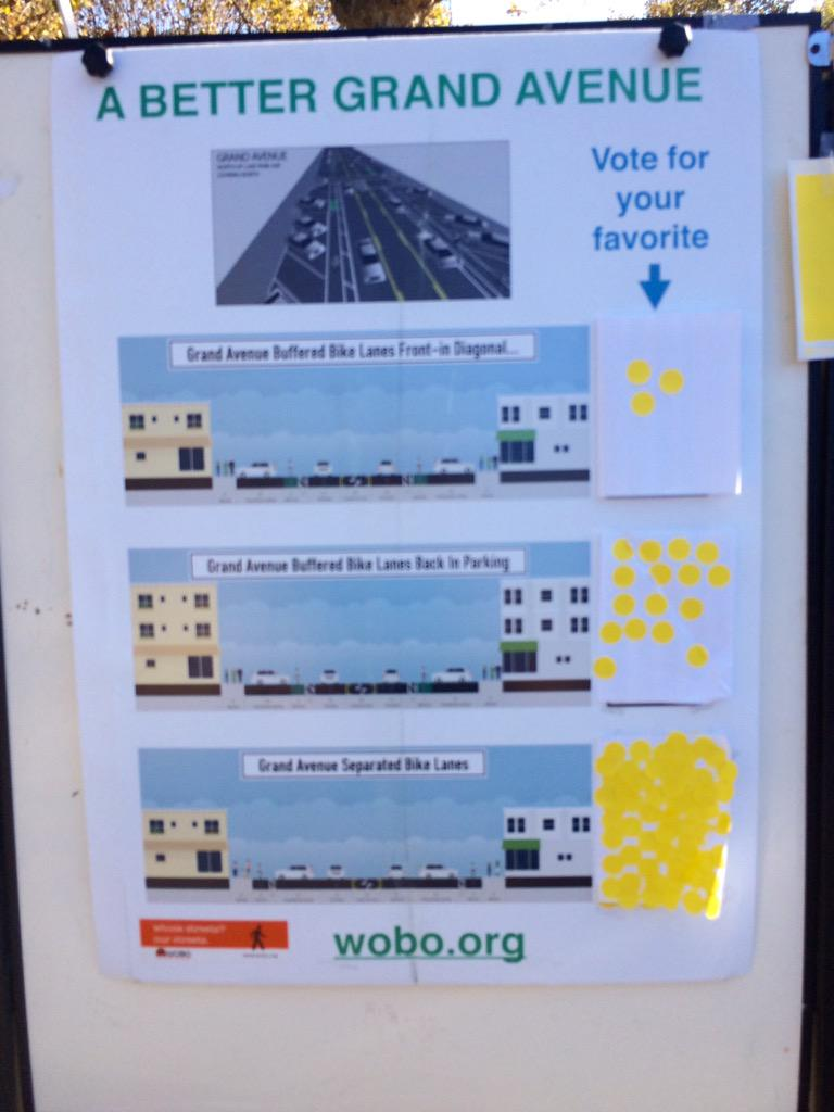 Grand Ave road diet with better bike lanes still popular #LoveOurLakeDay http://t.co/3rW25ONHRL