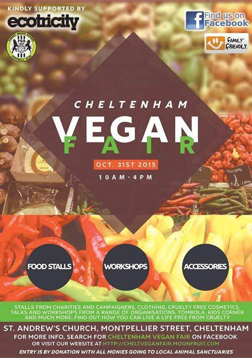 Cheltenham Vegan Fair flier