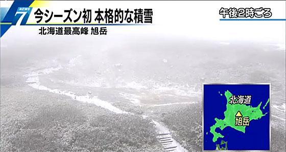 北海道の最高峰 大雪山系旭の岳で積雪 NHKニュース  http://t.co/NNOi0KFyfw http://t.co/PKwrZobL6t