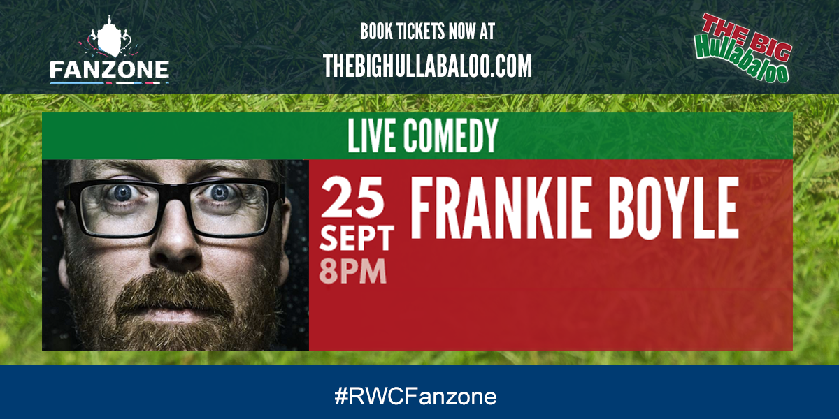 RT @RichmondFanzone: Frankie Boyle will be performing in our Richmond #RWCFanzone on Friday night. Book tickets: http://t.co/lp3diTqSJR htt…