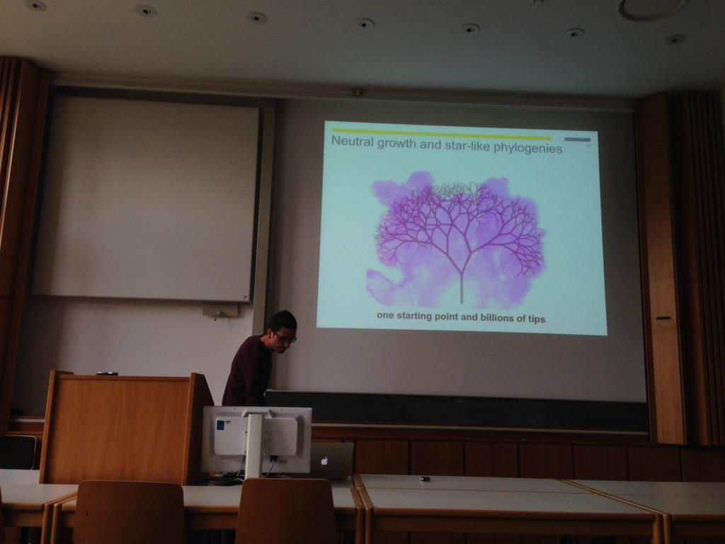 Beautiful picture of branching cancer evolution. #CEST15 http://t.co/NN12Ms1OIl