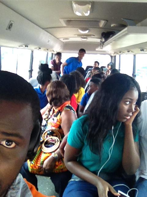 #RomanRidgeSchool students and teachers on our way to Teshie Orphanage #NVDay15 @whatawomanorg http://t.co/yqT2vNMikx