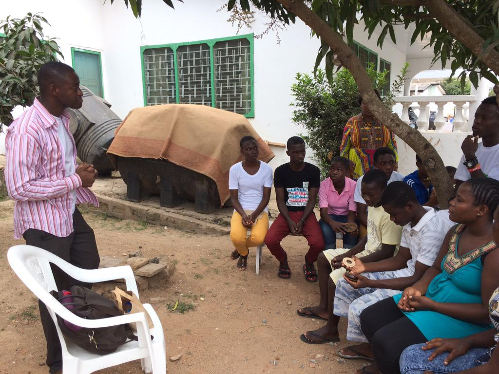 Mentoring orphans at the teshie orphanage with the CEO of Akooshi. #NVDay15 @whatawomanorg http://t.co/8z374lkK8b