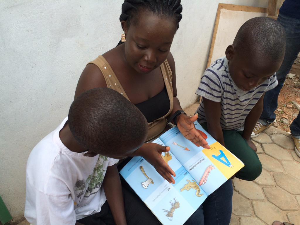 Volunteers are here at the Teshie orphanage. #NVDay15 #ReadToAChild http://t.co/C1NDVICh1G