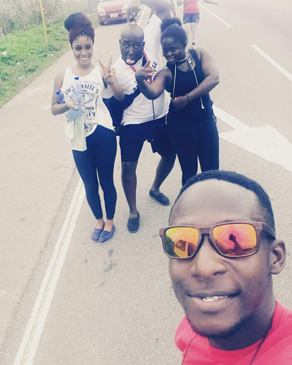 When we got to the top of the Aburi Hill during the fundraising walk. Its feels great to volunteer mehn!!!  #nvday15 http://t.co/z7q2jhclVo