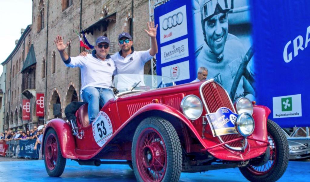 Auto d'epoca: i vincitori del GP Nuvolari 2015 con una FIAT 508 S Balilla Sport del 1934.