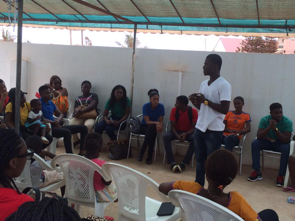 Nana Antwi shares his inspiring story about living at the Teshie Orphange until his mother returned for him. #NVDay15 http://t.co/9kjLedz2TW