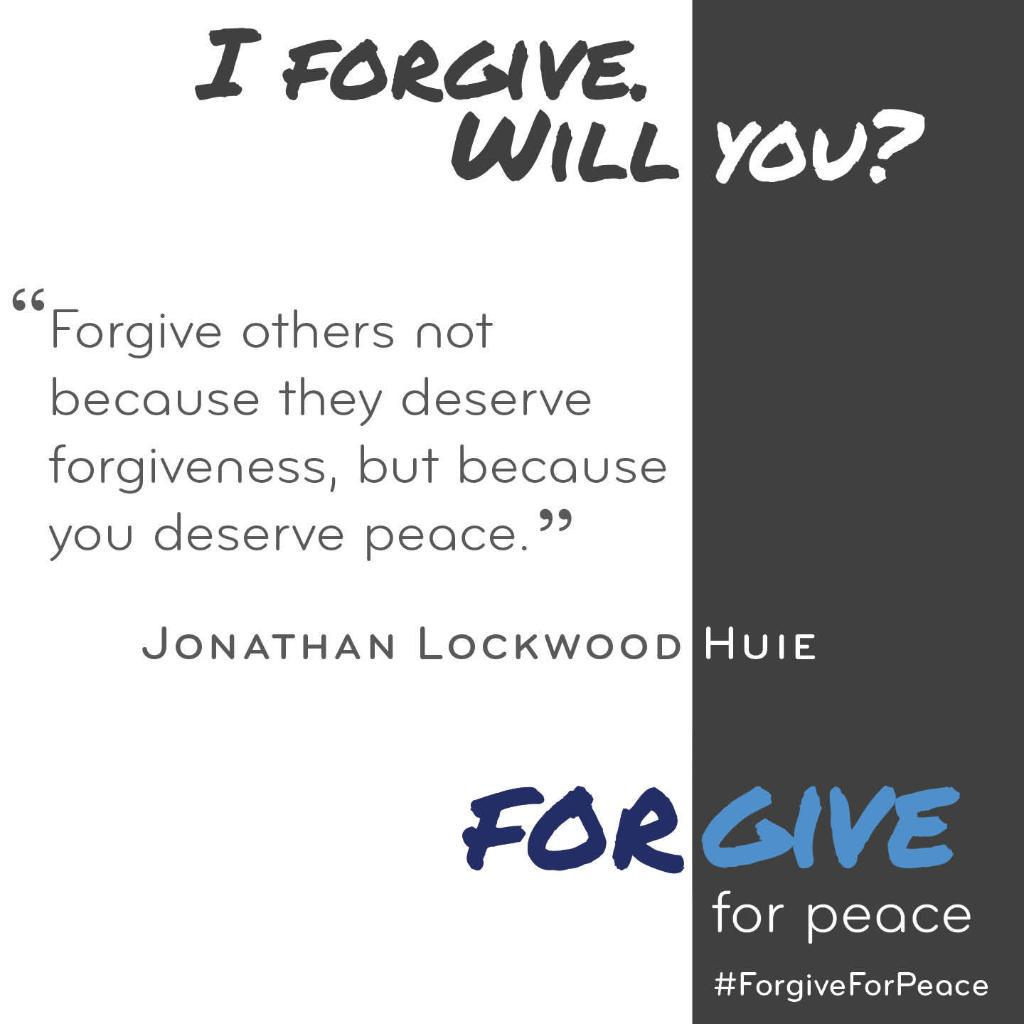 Join the movement.  #forgiveforpeace. http://t.co/E1s7pvBFAL