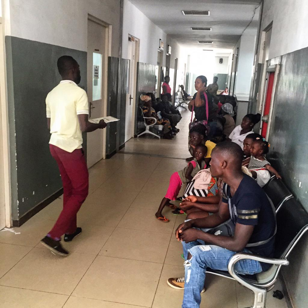 Volunteers with @asrotaract at the Lekma Hospital #nvday15 http://t.co/FfR9358Qwv