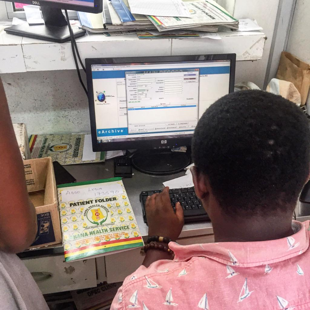 Members of @asrotaract assisting in taking records at the records department of the Lekma Hospital on #nvday15 http://t.co/IajVvIpuqm