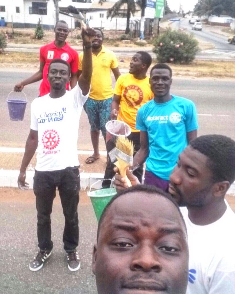 @rotaractosure painted a school block painting the pedestrian walkway in Osu #nvday15 http://t.co/Z5hURBvWMT