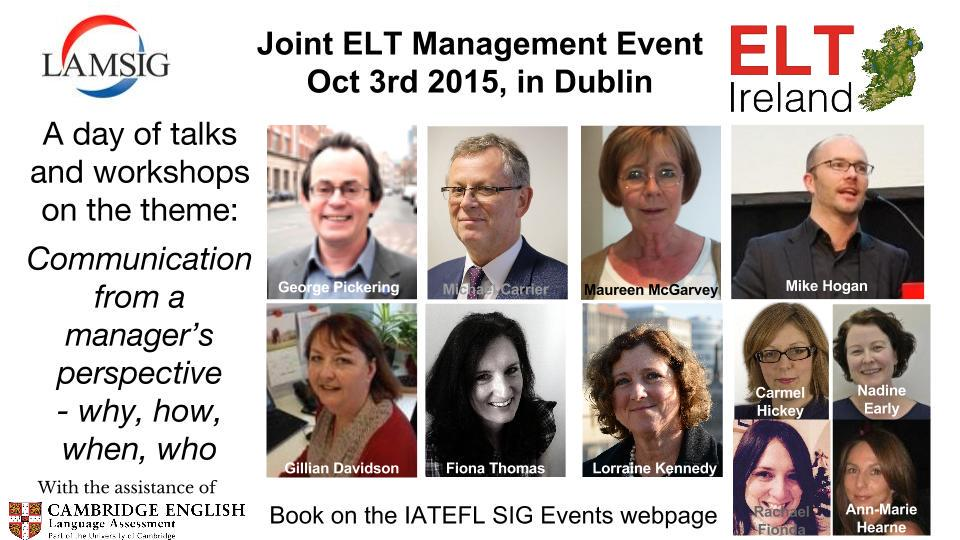 Looks like a great event for education managers! @IATEFL_LAMSIG conf. @ELTIreland http://t.co/aJhqhswJBZ https://t.co/lTeiFGNnou #iatefl