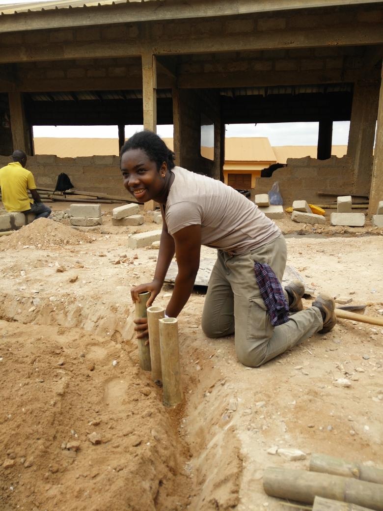 Madam Architect herself getting her hands dirty #NVDay15 http://t.co/CKgAMSUx1t