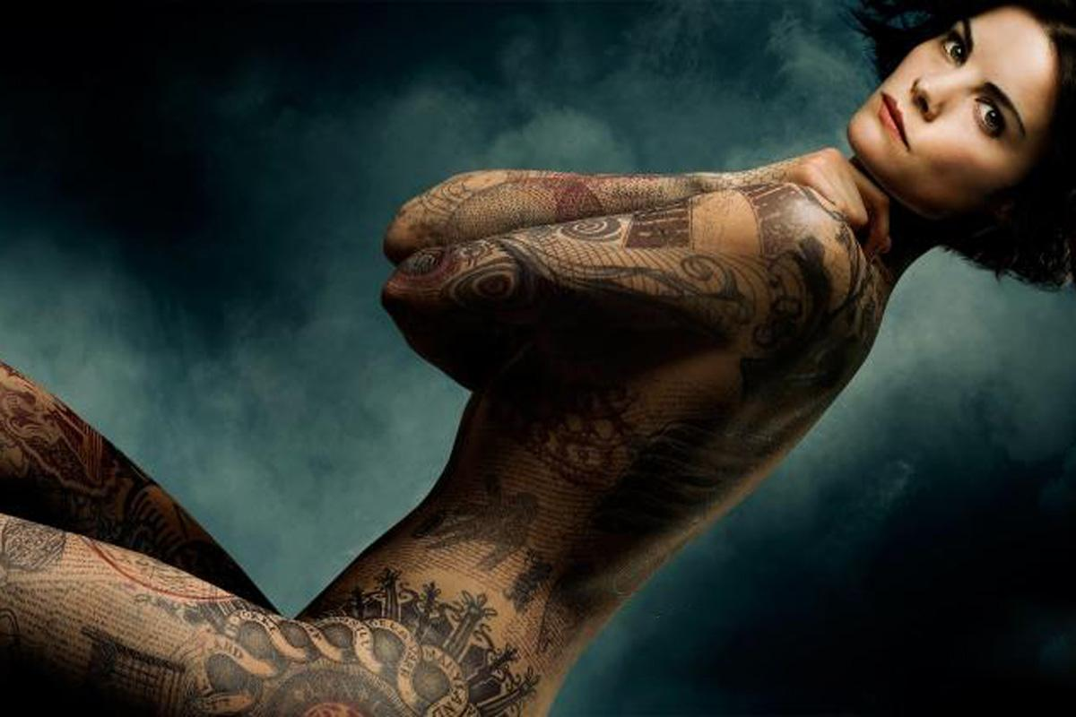 Nude rude tattooed