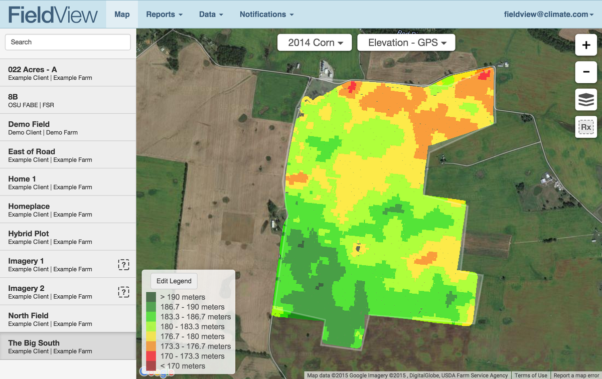 Gps Elevation Map.Fieldview On Twitter An Elevation Map Built From Gps Is Now