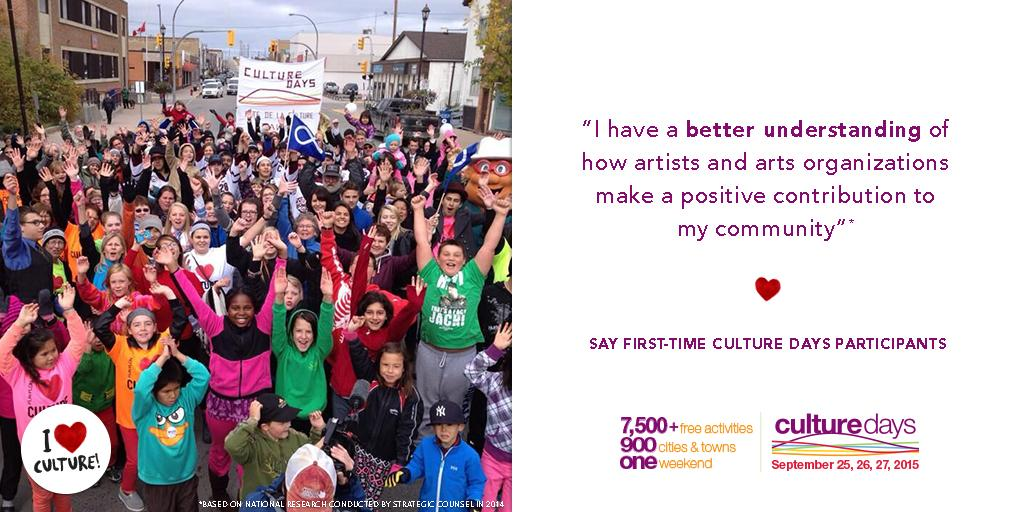 Retweet if you're excited for #CultureDays weekend, Sept 25-27!! WHOOT WHOOT!  http://t.co/5KGotVgwgh http://t.co/EOVQetF92v