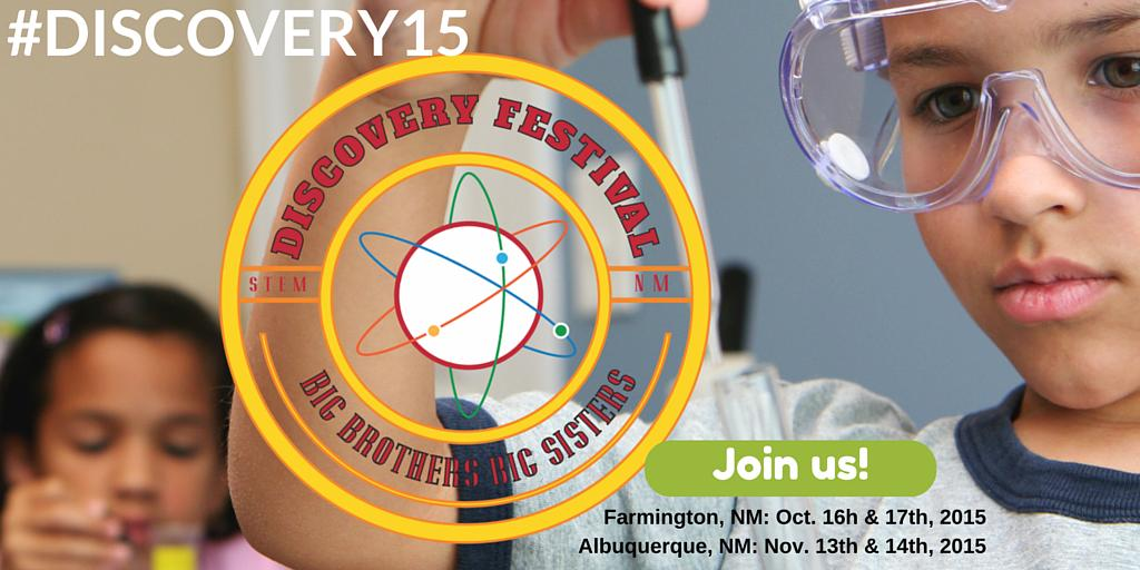 We're proud to sponsor Discovery Festival! @bbbscnm Join us (& share)! http://t.co/Kj96C9Ycrk #free #discovery2015 http://t.co/egfhYsB8YP