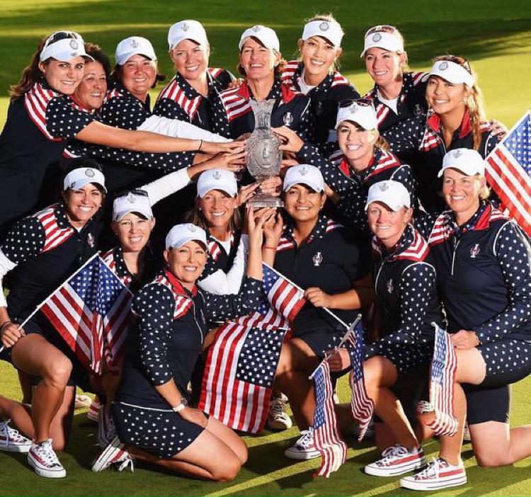 Great to be back in the USA! Still can't believe we won! So proud to be a part of this team!!! @SolheimCup http://t.co/lsirPP3KBZ