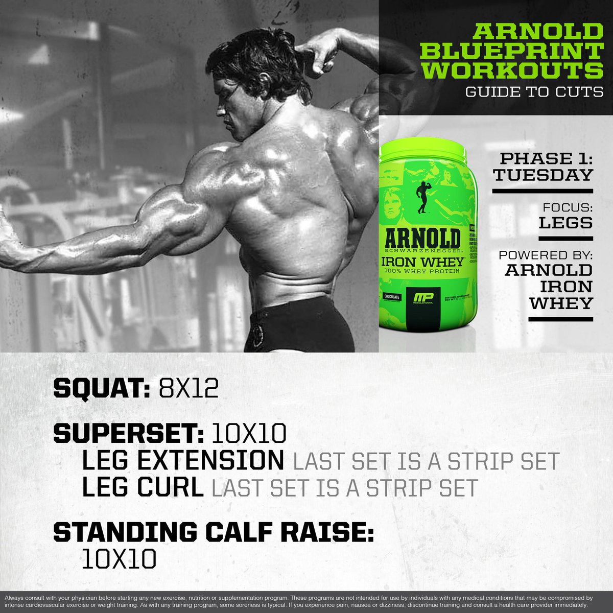 Musclepharm on twitter mp workout of the day arnold musclepharm on twitter mp workout of the day arnold schwarzenegger blueprint to cut leg workout powered by ironwhey httpthomexbqmzs malvernweather Gallery