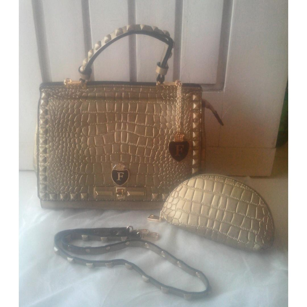 Tasfurla On Furla Agatha Croco Studed Gold Semi Premium 350rb For Order Line Inonggigie