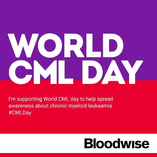 It's World CML Day. RT to show your support & help us spread awareness about chronic myeloid leukaemia #CMLDay http://t.co/rZinS8Ghzb
