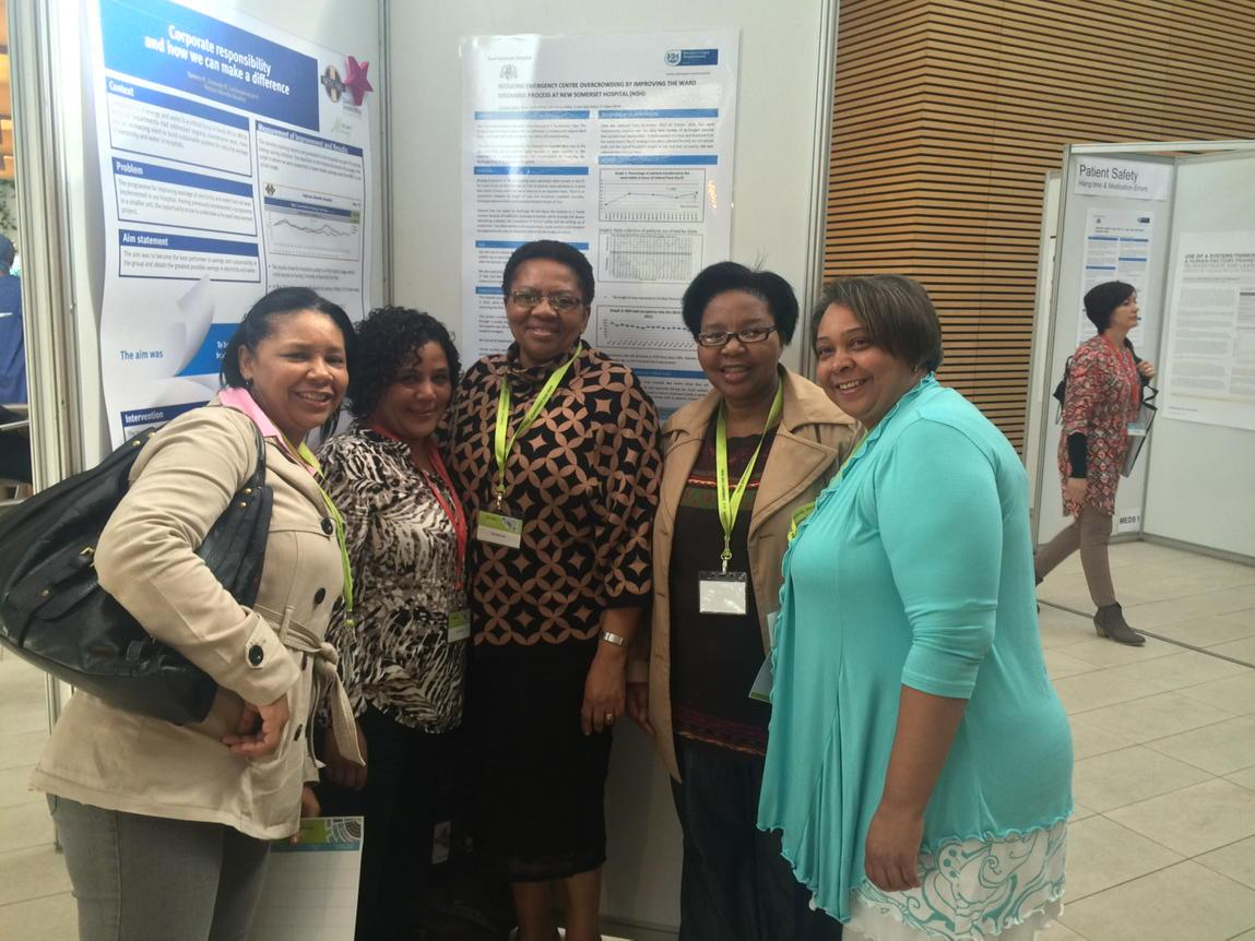 The New Somerset Hospital team and their poster