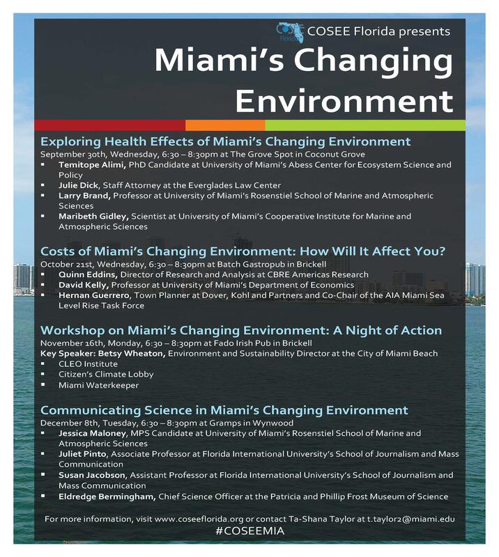 @COSEEFlorida Fall Series, Miami's Changing Environment, has been announced! #COSEEMIA http://t.co/b7aRUTuJmG
