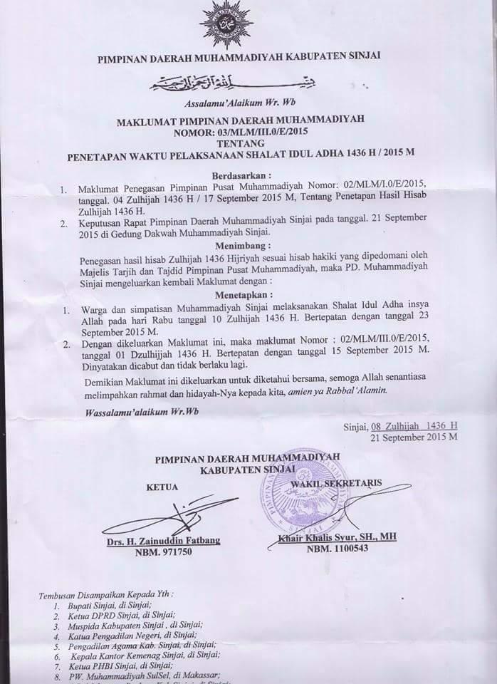 Maklumat Klarifikasi PD Muhammadiyah - AnekaNews.net