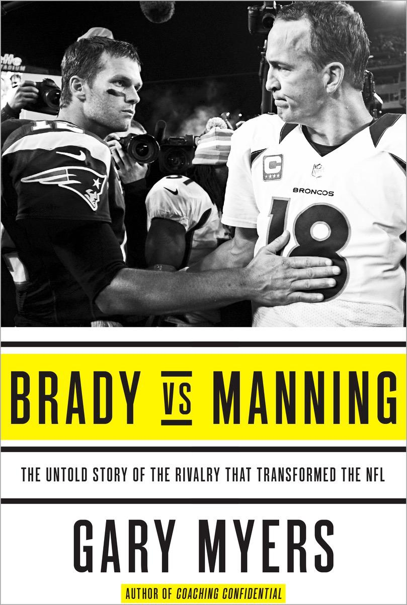 "It was an enjoyable two-year project and now ""Brady vs. Manning"" is available today in bookstores and on Amazon. http://t.co/92EnpFYjzc"