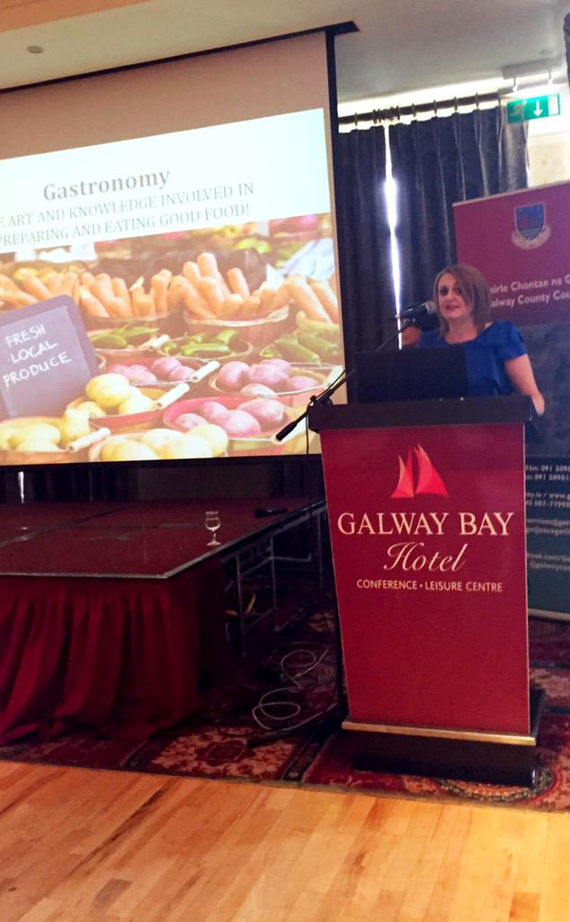 @jcdal delivering an insight into Gastronomy and Galway's aims to achieve European Region of Gastronomy'18 http://t.co/bahfIlz8M8