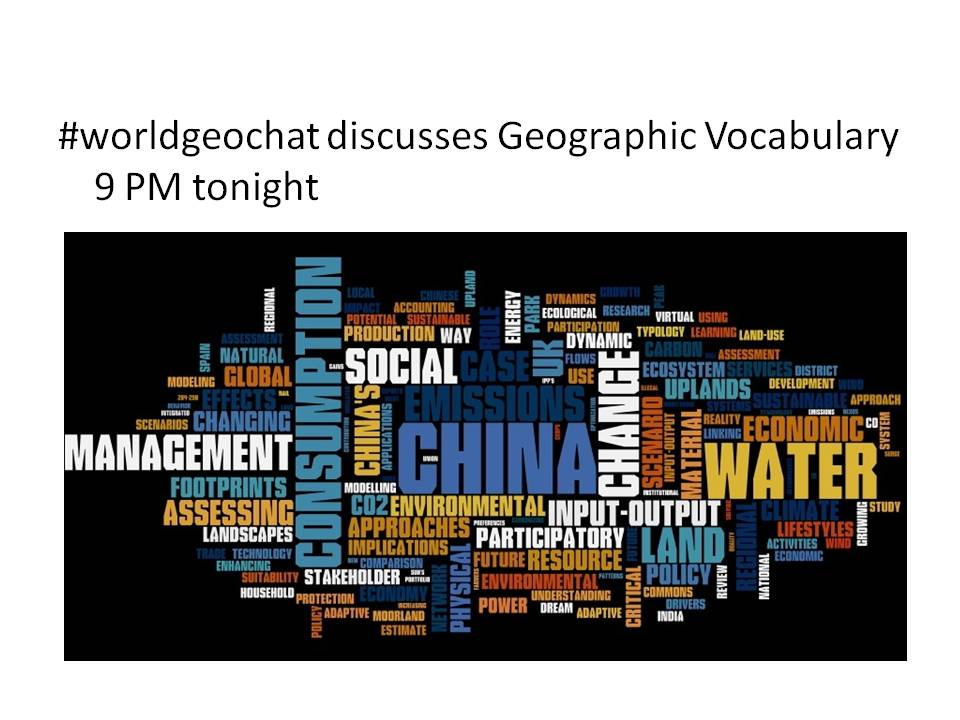 Thumbnail for #worldgeochat - Vocabulary