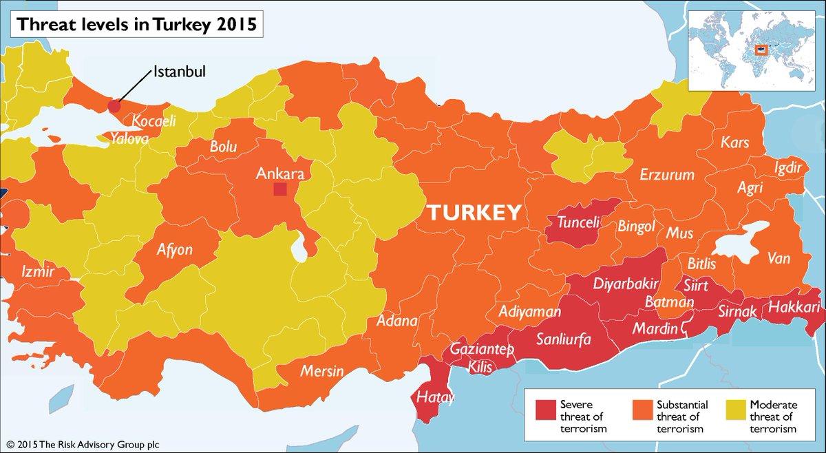 Zagrożenie atakami terrorystycznymi na terenie Turcji
