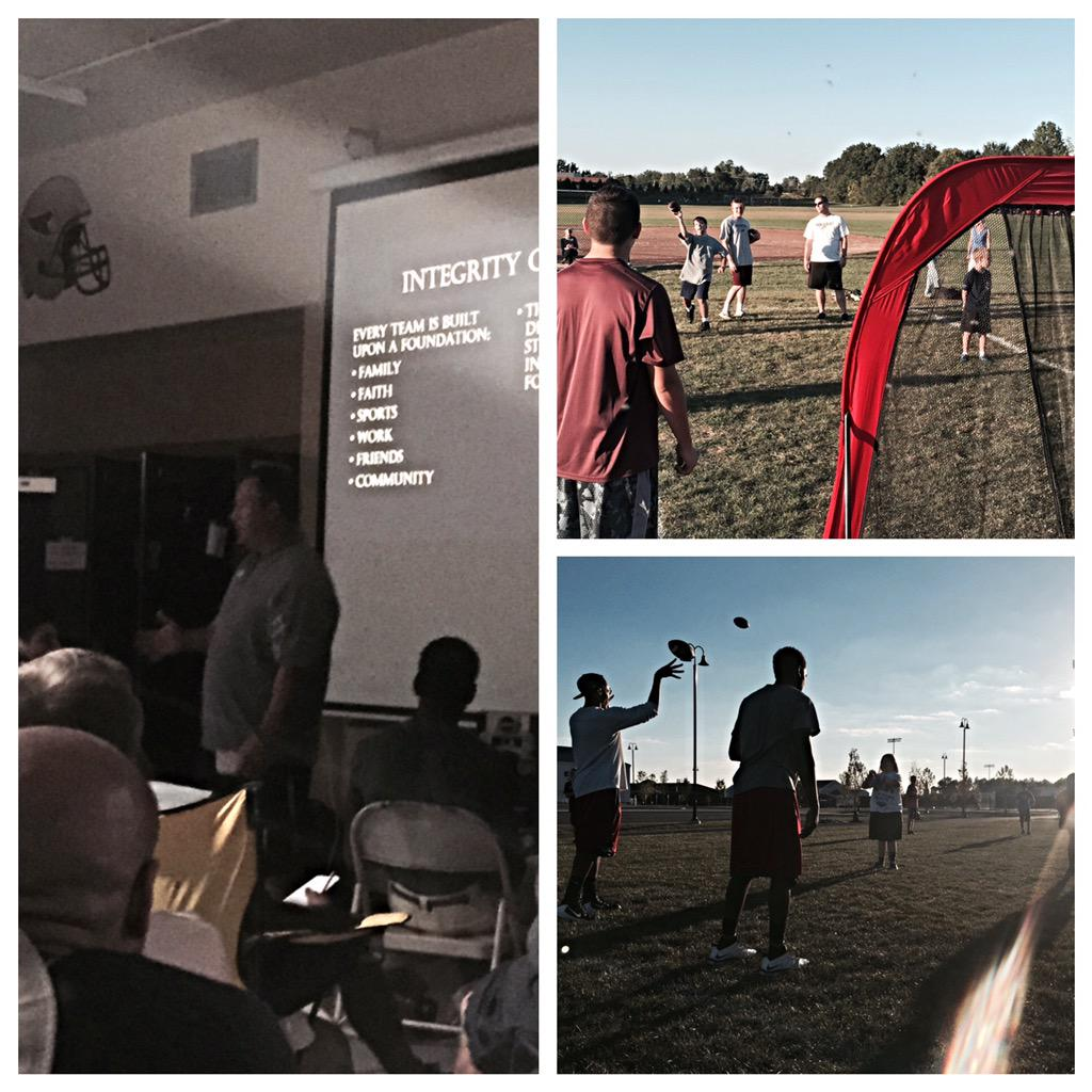 Great week to be an EAGLE! Coach Britton on INTEGRITY and another fun night with our NASO Teammates! #NAHSCommUNITY http://t.co/33KpxNm8ou