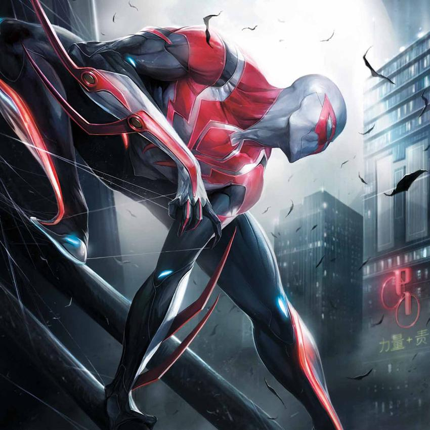 Before SpiderMan 2099 Heads Back To Work Learn About His New Role At Parker