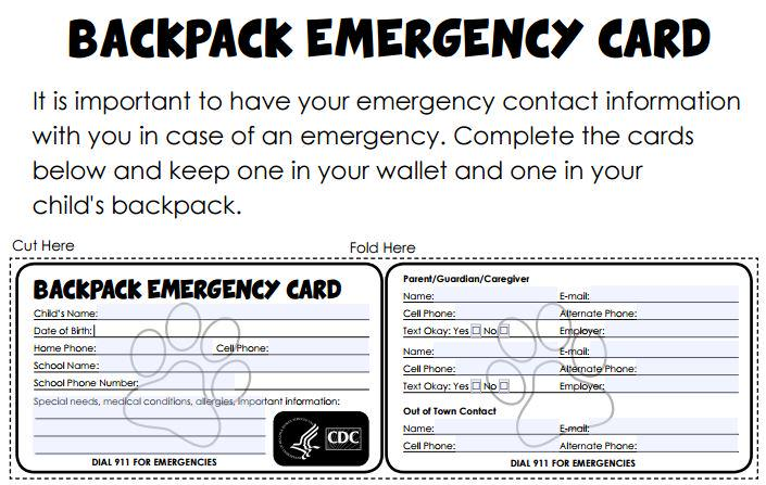 This is a photo of Sizzling Printable Emergency Contact Card