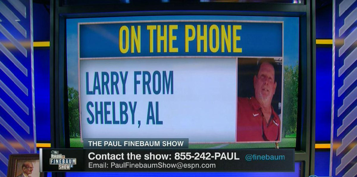 """Paul Finebaum on Twitter: """"Two of our favorite callers today ..."""