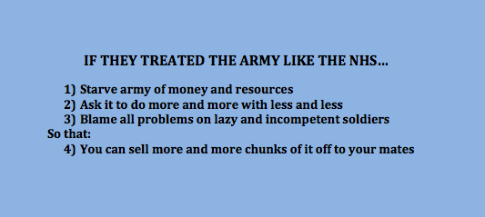 If the government treated the army like the NHS... #addenbrookes http://t.co/uCWqeF73Qs