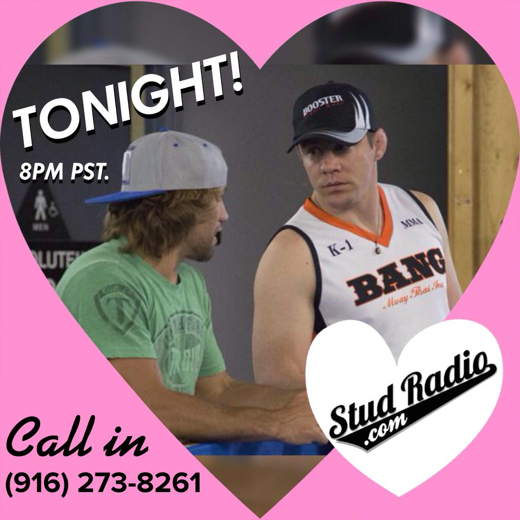 Urijah Faber will be on Stud Show Radio tonight (9/22) at 8pm Pacific Time