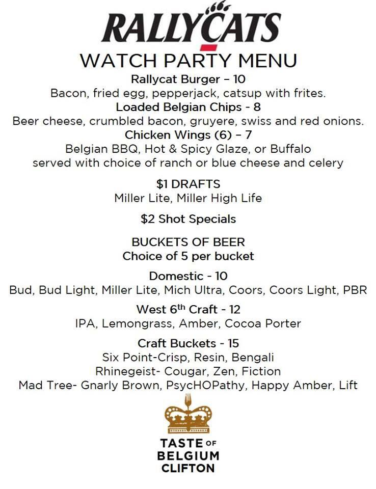 @UCRallyCats watch party specials !! http://t.co/nserPcYEBU
