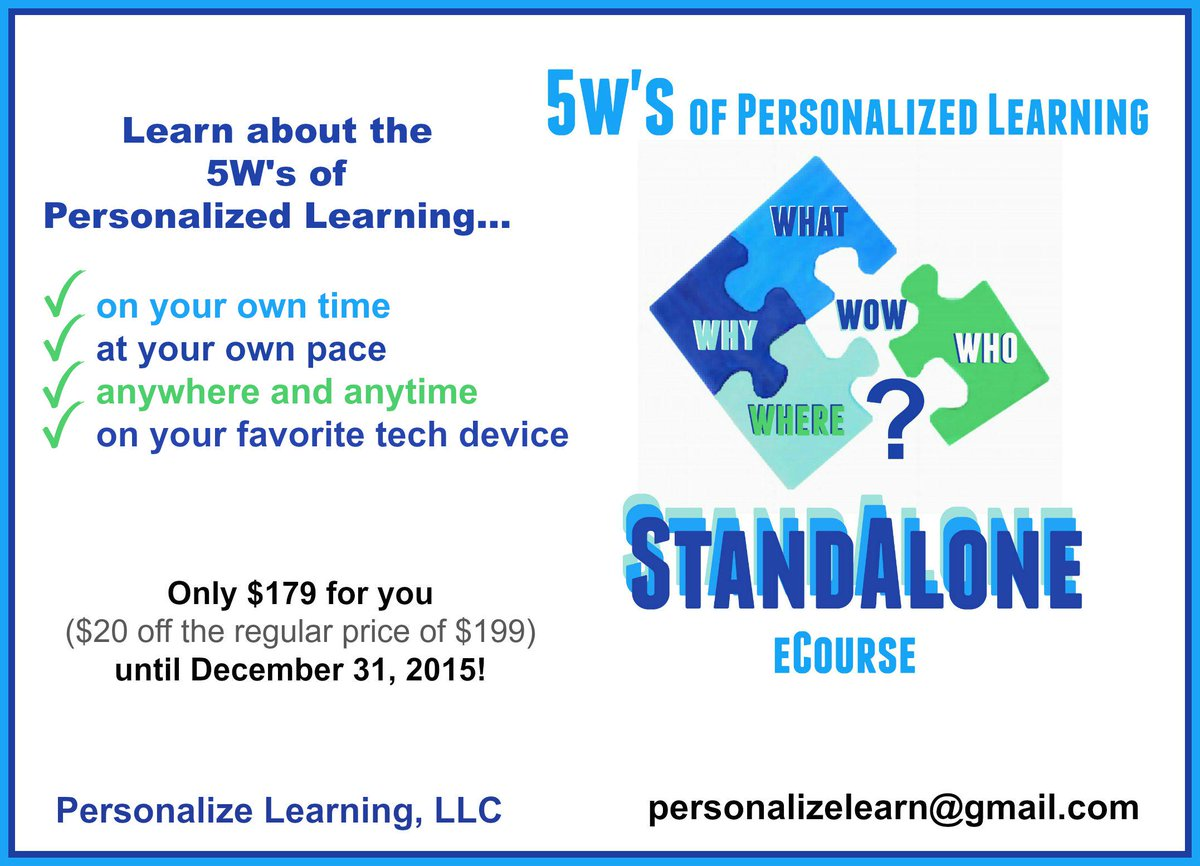 Autonomous learning!5Ws of PL StandAlone eCourse-Easy registration w PayPal http://t.co/xrORJvQhvW #6thchat #edchatma http://t.co/wcCc0UyfYL