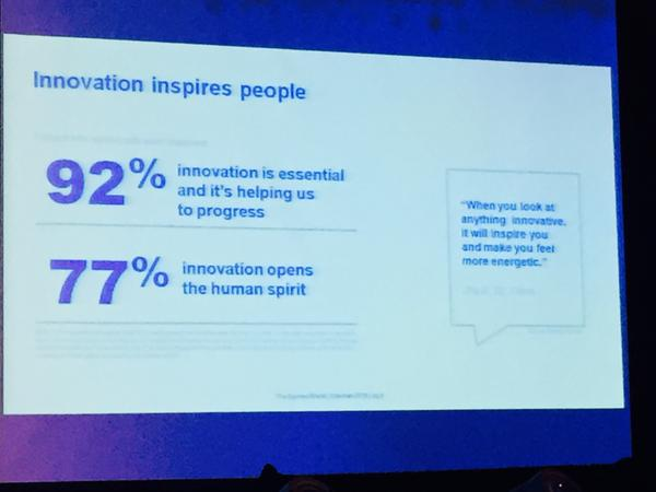 #Innovation inspires people. People think that innovation helps them to progress. #in2summitHK @holmesreport http://t.co/p9odrQRIp6