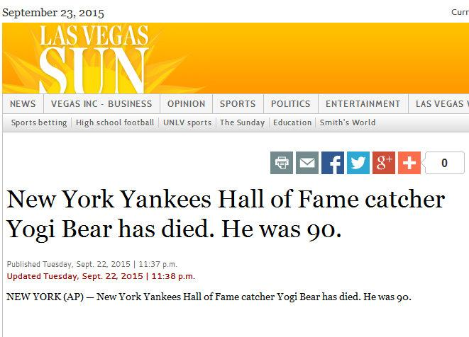 [Facepalm] AP Bulletin: Yogi Bear just died http://t.co/P0O5OZdT8M - attaching screencap in case they fix it http://t.co/Xn34yTcYdZ