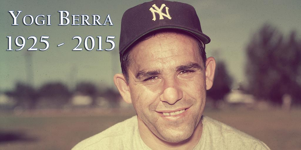 We mourn the passing of Yankees icon and Hall of Famer Yogi Berra. http://t.co/60mwHGj33R