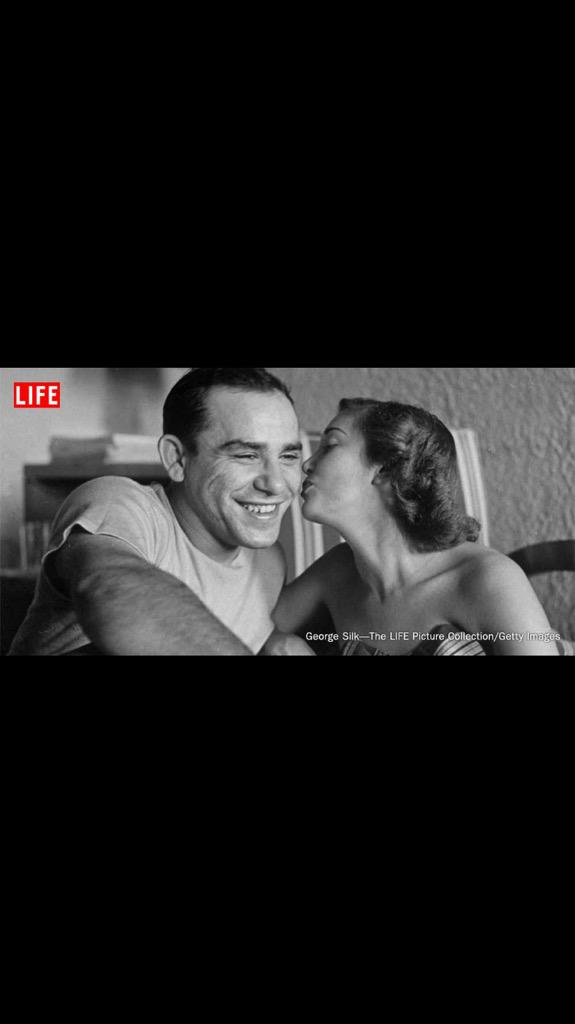 Yogi & Carmen.  LIFE Magazine on Twitter has some great pics.  Beautiful, happy couple. Together again http://t.co/MYVn840N8d