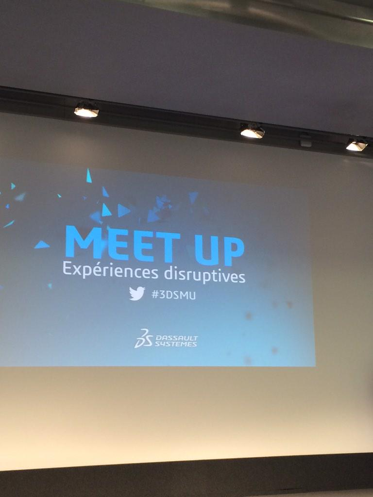 "Waiting for the conference Meet Up ""Experience disruptives"" at 3DS Paris Campus #3DSMU http://t.co/NuQgMCUs1z"