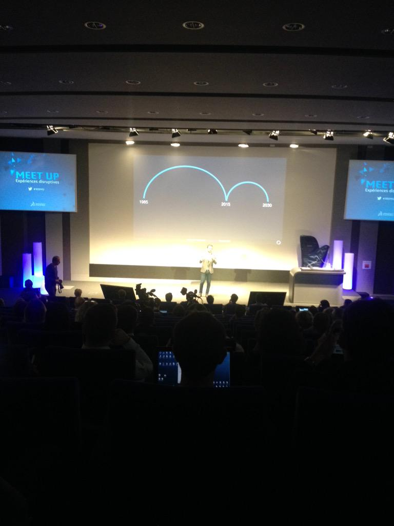 Evolution or revolution? What will be the disruptive experiences in our future?  #3dsmu http://t.co/ZL6R1kPcOl