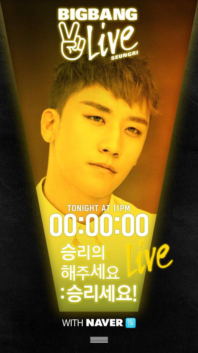 [BIGBANG - V LIVE 'SEUNGRI' COUNTER] originally posted by http://t.co/XZQ3IOI9MY #BIGBANG #빅뱅 @ForvictoRi #SEUNGRI