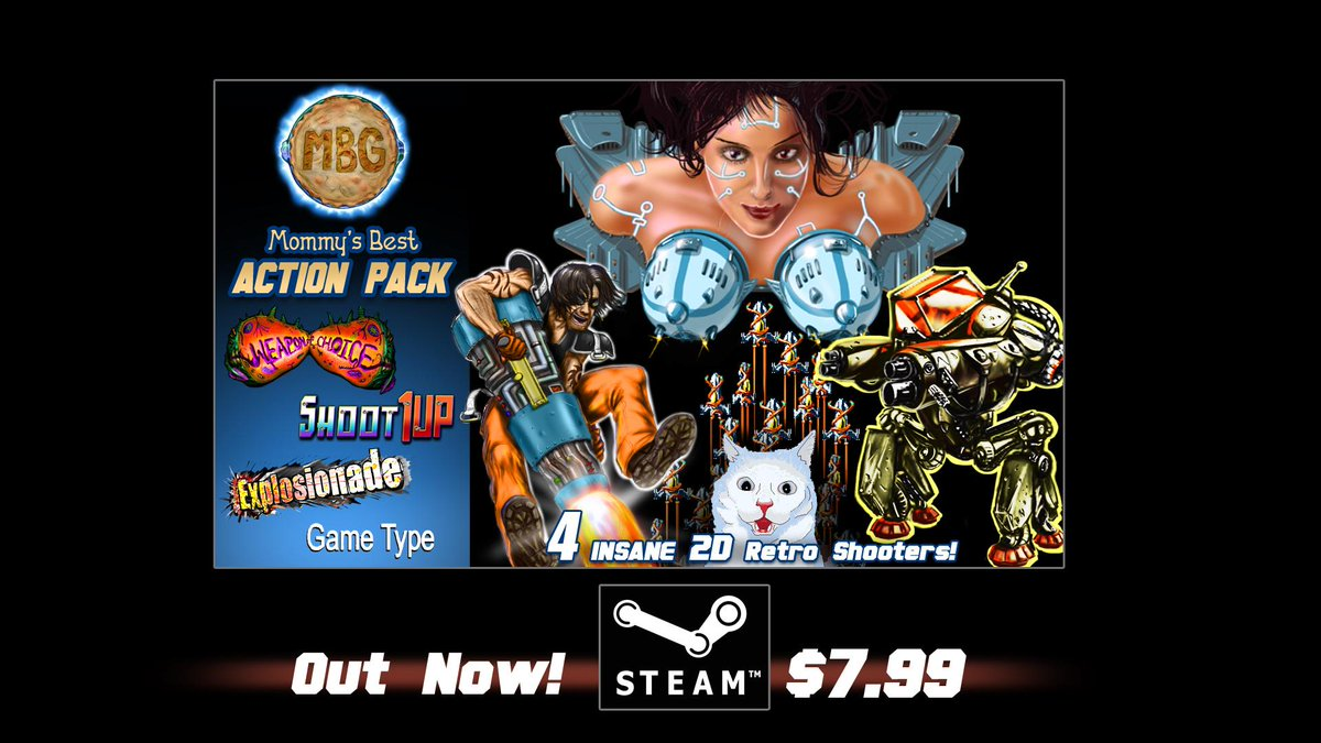 Mommy's Best Action Pack! Enhanced! Now on Steam! Only $7.99! Store page: http://t.co/69E7k1suyb Please RT!  #xna http://t.co/91Y9qz0Hk2