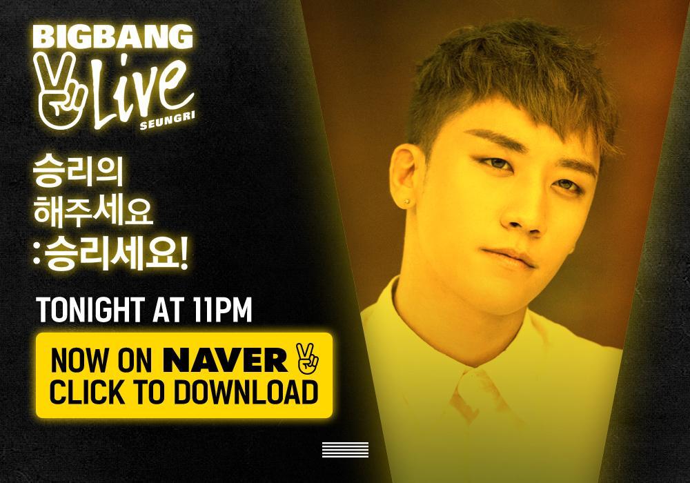 [BIGBANG - V LIVE 'SEUNGRI'] Watch @ http://t.co/xsNKJGctPc #BIGBANG #빅뱅 @ForvictoRi #SEUNGRI #승리 #VLIVE #Vapp