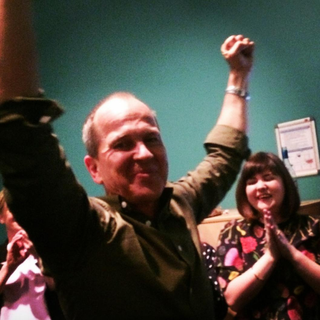 Amazing night on #MediaCircus, recording the show when Peter Greste heard that his colleagues had been pardoned. http://t.co/wNXGGuIMbq